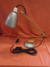 More details for vintage retro grey habitat terence conran wooden arm maclamp desk lamp