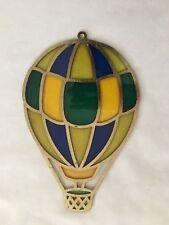 "Polyresin 4.5X7"" Hot Air Balloon Sun Catcher Faux Mosaic Decoration"
