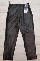 Harve Benard Black Leather Biker Pant Size 10P