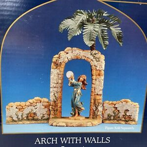 "Fontanini Nativity ~ ARCH WITH WALLS ~3 Piece Set~ For 5"" Nativity #56567 IN BOX"