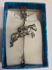 "Brooch pin pewter emblem 3"" 7.5 cm Eventing Pp-E04 Horse kilt pin Scarf or"