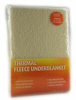 THERMAL FLEECE UNDERBLANKET DEEP FITTED WARM UNDER BLANKET PROTECTOR