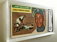 JIM GILLIAM 1956 Topps #280 GMA Graded 5.5 EX+