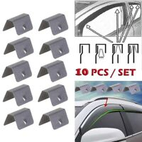 10X Wind / Rain Deflector Car Channel Metal Retaining Clips For Heko G3 Clip New