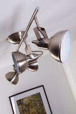 4 spots sur rail Plafonnier Style Moderne Lustre Lampe suspension argentée 74040