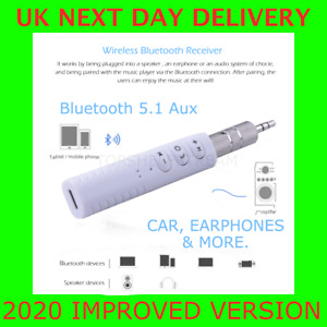 Bluetooth 5.1 AUX Receiver 3.5mm Phone Car Stereo Earphones Adapter with Mic