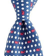 Vineyard Vines Men's Polka Dot Goe Silk Tie in Navy with Gift Box $85.00