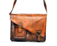 Men's Vintage Handmade Genuine Leather Laptop Shoulder Briefcase Bag Messenger