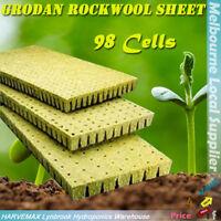 98 Cubes Grodan Rockwool Sheet Block Propagation Cloning Seed Raising Hydroponic