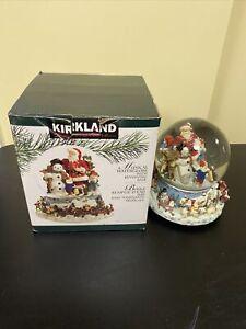 Kirkland Signature Revolving Base Musical Water Globe Merry Little Christmas