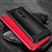 Per Nokia 2.1 3.1 5.1 7.1 antiurto in fibra di carbonio ARMOR Slim TPU Gel Custodia Cover