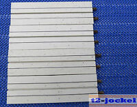 4 x einspurige Geraden 20 cm Faller AMS 4520
