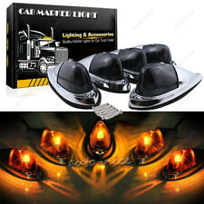 5x Universal Fit LED Bright Clearance Roof Running Cab Marker Amber Yellow Light
