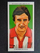 The Sun Soccercards 1978-79 - John Fraser - Brentford #411