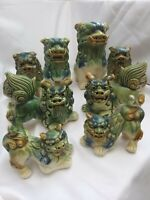 Vintage Ceramic Foo Dogs Glazed Various (Dogs of Fo) Excellent Condition.