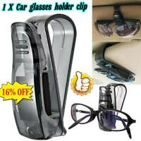 Black Car Auto Sun Visor Glasses Sunglasses Card Ticket Holder Clip Fast