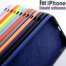 Para iPhone 12 Pro Max 11 XS X XR 8 7 SE 2 Funda Silicona Microfibra de Calidad