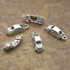 30pcs Tibetan Silver voiture sport Pendentifs Charms Pour Jewelry Making 20x13mm