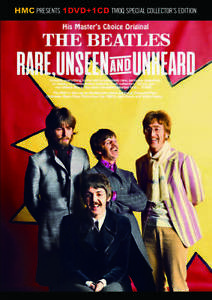 The Beatles Rare Unseen And Unheard Special Collector's Edition 1 CD 1 DVD Set