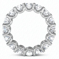 "0.46 ct each ""U"" shape F Vs 6.80 ct Round Diamond Eternity Ring Platinum Band"