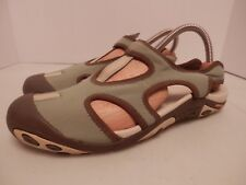 Merrell Green/Brown Trail Shoes-Women's Size 8.5-Excellent Condition