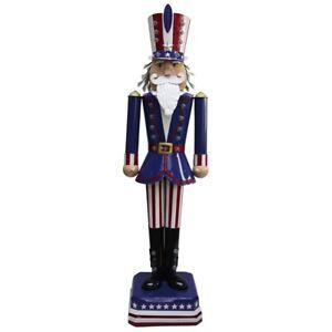 "Nutcracker Statue Uncle Sam 50"" LED Light Patriotic"