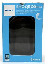 NEW Philips SHOQBOX Mini Waterproof Bluetooth Speaker BLACK BT2200BF/27 wireless