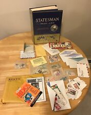 World Postage Stamp Collection Statesman Deluxe Album + Stamps!