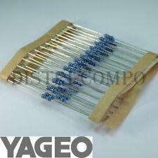 100 résistances couche métal 2K87 0,6W 1/% Yageo