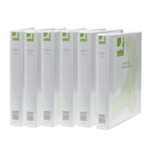 Q-Connect White 2 Ring Presentation Binder 25mm (Pack of 6) KF72645