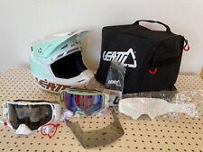 Leatt Helmet Kit Moto 8.5 V21 Ice White Medium 57-58cm w/ 2 goggles