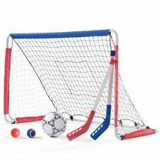 NEW Fun Multi-use Step2 Kickback Soccer Goal and Hockey Pack Kids Sports Set