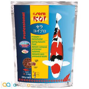 sera Koi Professional Spring Autumn Food 2200 grams 3mm Pellets Koi Fish Food