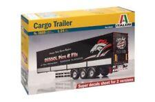Modellini statici di auto, furgoni e camion rimorchio blu a scatola chiusa