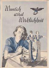Werbeblatt Phoenix Nähmaschine Baer & Rempel Bielefeld um 1935 ! (D