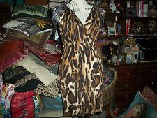 SABORA Sexy Wild Beaded Leopard Dress Size M