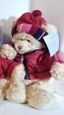 """CHRISTMAS WINTER PLUSH TEDDY BEARS 17"""" STANDING 13"""" SEATED NW/TAGS 4 IN STOCK"""