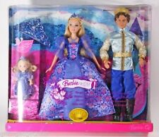 Barbie and Ken as Sleeping Beauty and Prince with Bonus Kelly Doll and Tiara