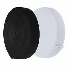 Flat Woven Elastic 25mm / 1 inch wide Black or White Premium Grade UK SELLER