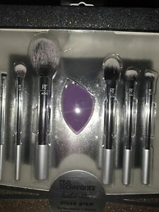 Real Techniques Disco Glam Limited Edition Makeup Brush 9 Piece Brush Set NEW