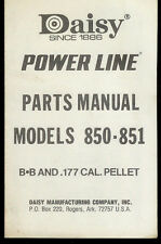 *Copy Daisy Power Line 850/851 BB Pellet Rifle Gun Illustrated Parts List Manual