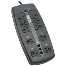 TRIPP LITE TLP1008TEL 10-Outlet Surge Protector with Telephone Protection (wi...