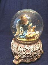 "Angel & Baby Jesus Musical Snow Musical Globe Christmas 6""T"