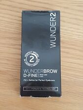 WUNDER2 WUNDERBROW D-FINE Eyebrow Pencil Liner & Gel Blonde 2in1 long lasting