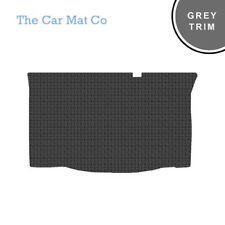 Chrysler Ypsilon 2011-Now Fully Tailored Black Rubber Boot Mat With Grey Trim