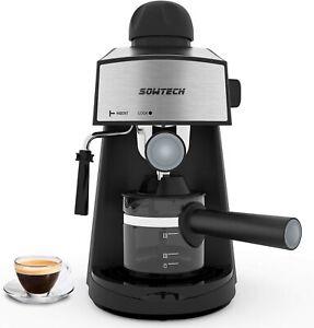 NEW Steam Espresso Machine 3.5 Bar 4 Cup Espresso Maker Cappuccino Latte Black