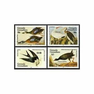 Grenada Gren 637-640,641,MNH.Mi 647-650,Bl.90. Audubon birds,1985.Teal,Ibis,Kite