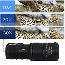 40x60 HD Focus Day Night Vision Lens Optical Outdoor Travel Monocular Telescope