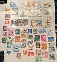 Mini World Stamp Collection With Magnifying Glass