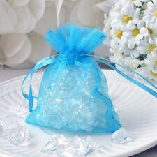 10 Turquoise Blue Mini Organza Favor Pouches Potpourri Bags Drawstring Bags